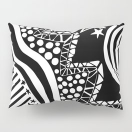 Soul Of The Dream Desert - Star Gazer (Black and White Edition) Pillow Sham