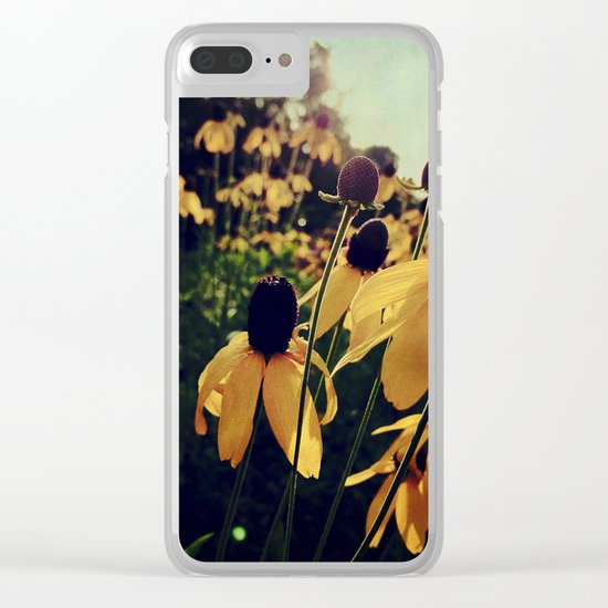 Sunshine and Flowers Clear iPhone Case
