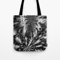 "psychedelic art Tote Bags featuring ""  psychedelic ""  by shiva camille"