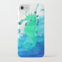 seahorse iPhone & iPod Cases featuring Seahorse by Sara Eshak
