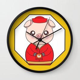 Chinese New Year Pig Wall Clock