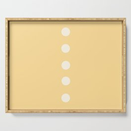 CREME Pastel Solid Color & Dotted Line Serving Tray