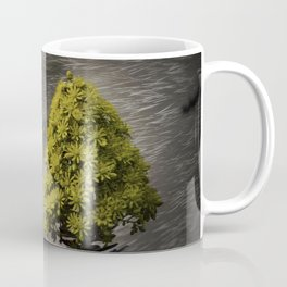 Blooming flowers with texture and vignette Coffee Mug