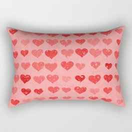 Pink Valentines Love Hearts Rectangular Pillow