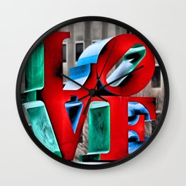 Love from Philly Wall Clock