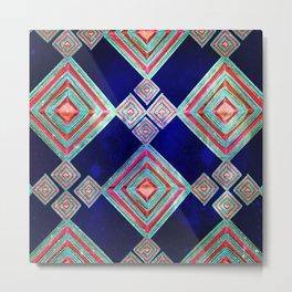Weaving Mandala- Neon color Metal Print