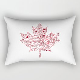 Maple Leaf - red Rectangular Pillow
