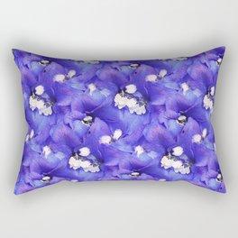 A Pattern of Intense Purple-Blue Delphinium Flowers Rectangular Pillow