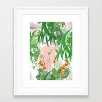 cassandra jean Framed Art Prints featuring Cassandra by Wolfie and the Sneak