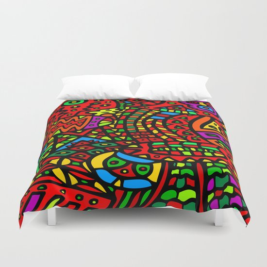 Abstract #411 Duvet Cover