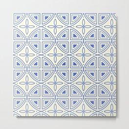Modern Flower Pattern Art Metal Print