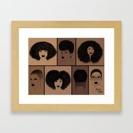 7 Haircuts for Natural Hair Framed Art Print