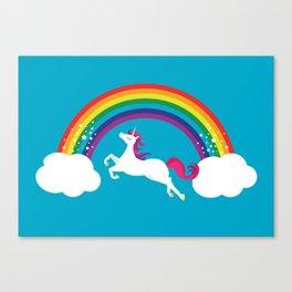Unicorn Rainbow in the Sky Canvas Print