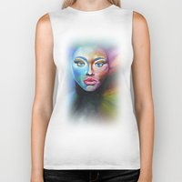 psychedelic Biker Tanks featuring Psychedelic  by Halinka H