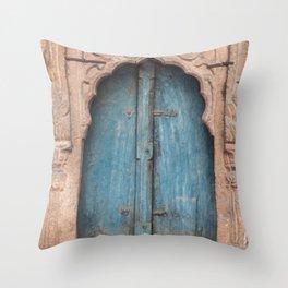 Doors Of India 2 Throw Pillow