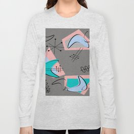 Atomic Era Inspired Boomerangs Long Sleeve T-shirt