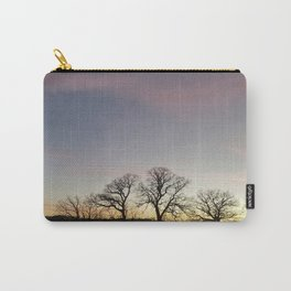 Autumn Sunset Silhouette - Pheasant Branch Conservancy Carry-All Pouch