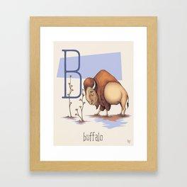 B is for Buffalo Framed Art Print