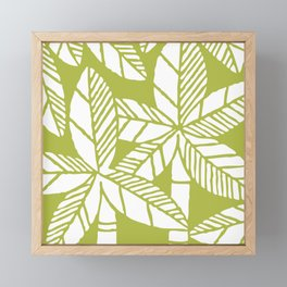 Tropical Palm Tree Composition Olive Green Framed Mini Art Print