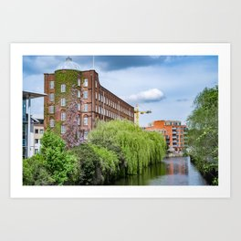 St James and River Wensum, Norwich Art Print