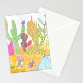 Wandering in the Desert Stationery Cards