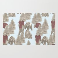 bears Area & Throw Rugs featuring Bears  by Ellie Price