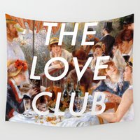 lorde Wall Tapestries featuring Luncheon with the Love Club by Lorde Art History