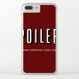 SPOILERS Clear iPhone Case