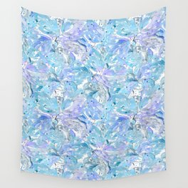 Blue and cornflower leaves. Wall Tapestry