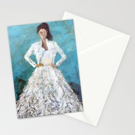 bomber bride Stationery Cards