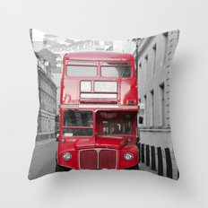 London Routemaster Throw Pillow
