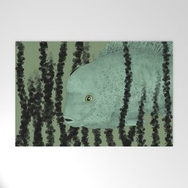 Under water Funky Fish Welcome Mat
