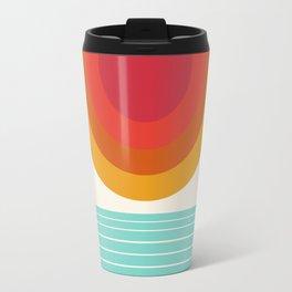 Totally Hot - 70s style retro throwback minimal sunshine beach socal cali 1970's Travel Mug