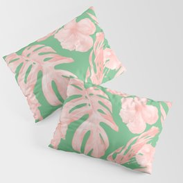 Island Life Seashell Pink + Green Pillow Sham