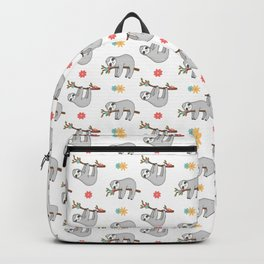 Gray Sloth Pattern Backpack