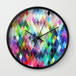 Diamond Bright Painted Design Wall Clock