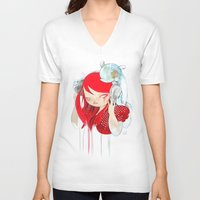 bass V-neck T-shirts featuring That Bass! by STUDIO KILLERS