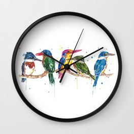 Kingfishers of the World Wall Clock