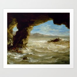 Eugne Delacroix - Shipwreck on the Coast Art Print