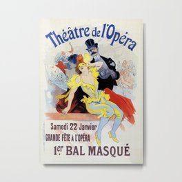 1897 Masquerade ball Paris Opera Metal Print