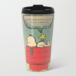 Partying Will Help... Metal Travel Mug