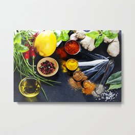 Herbs and spices selection Metal Print