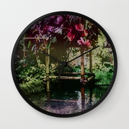Tropical Pool Garden Wall Clock