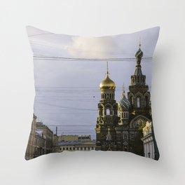 Saint Petersburg Russia Throw Pillow