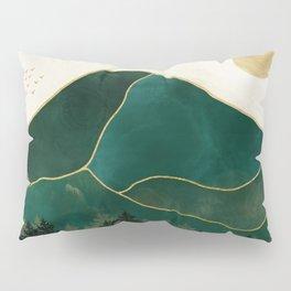 Mt Hood Emerald Mountain Abstract Pillow Sham