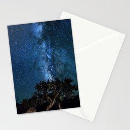 Deep Blue Milky Way Landscape Stationery Cards