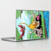leah flores Laptop & iPad Skins featuring Leah by Esau Figueroa