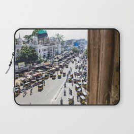 View of the Busy Roads from the Charminar in India Laptop Sleeve