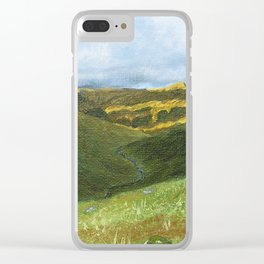 View from Ben Lawers over Loch Tay - Scotland / Oil Painting Clear iPhone Case