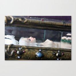 Surrea in her glass casket Canvas Print